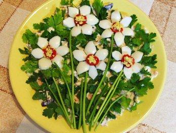 рецепты салатов украсить красиво